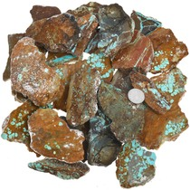 Number 8 Turquoise Rough 37157