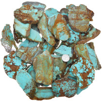 High Grade Number 8 Turquoise Slices 37154