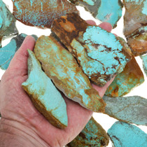 One Pound Lot Turquoise Rough Number 8 Slices 37154