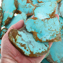 High Grade Number 8 Turquoise Sliced Nuggets 37154