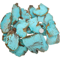 Large Sliced Number 8 Turquoise Rough 37154