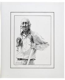 "Native American ""Pueblo Man"" Jim Branscum Sketch 40987"