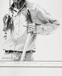Pueblo Man Native American Sketch Signed Art Print 40987