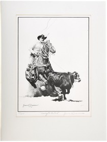 """""""Cowboy to The End"""" Signed Limited Edition Art Print 40978"""