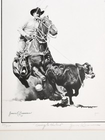 Authentic Jim Branscum Western Rodeo Sketches 40978