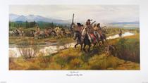 Escape From The Big Hole Nez Perce Battle Scene Signed Print 40983 40983