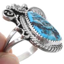 Navajo Sterling Silver Arizona Turquoise Ring 40989