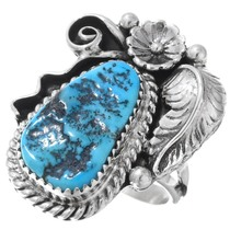 Natural Turquoise Native American Ring 40989