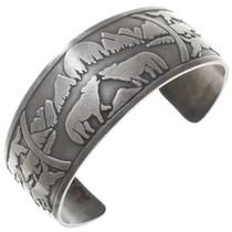 Sterling Silver Wolf Bracelet 40858