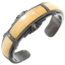 Bone Ironwood Inlay Old Pawn Bracelet 40819