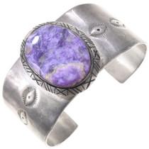 Sterling Silver Purple Charoite Bracelet 40804