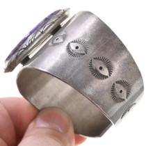 Native American Old Pawn Bracelet High Grade Charoite Gemstone 40804