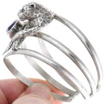 Carol Felley Silver Leopard Amethyst Bracelet 40891