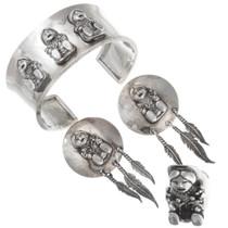Vintage Sterling Silver Storyteller Bracelet Jewelry Set 40895