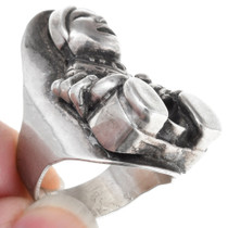Navajo Storyteller Doll Inspired Matching Silver Ring 40895