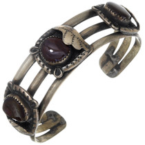 Old Pawn Fire Agate Silver Bracelet 40896