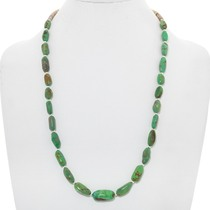 Natural Green Turquoise Bead Necklace 41003