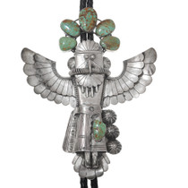 Large Native American Sterling Silver Kachina Bolo Tie 41005