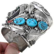 Genuine Bear Claw Turquoise Cuff Bracelet 41010