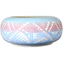 Navajo Hand Etched Bowl 41014