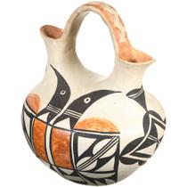 Old Acoma Polychrome Wedding Vase Thunderbird Pattern 41015