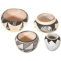Small Vintage Pueblo Indian Pottery Set 41016