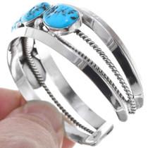 Natural Turquoise Ladies Cuff Bracelet 41017