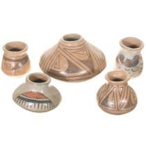 Vintage Miniature Mata Ortiz Pottery Set 41024