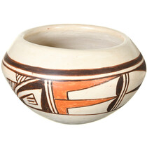 Vintage Hopi Tewa Polychrome Pottery Bowl 41028