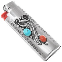 Native American Turquoise Silver Lighter Case Cover 41032