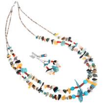 Vintage Navajo Treasure Bead Necklace Set 41035