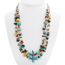 Turquoise Nugget Heishi Treasure Necklace 41035