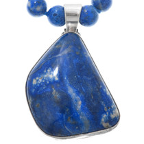 Sterling Silver Sodalite Crystal Pendant Necklace 41038