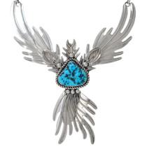 Sterling Silver Firebird Design Navajo Necklace 41044