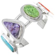 Vintage Navajo Turquoise Gemstone Cuff Bracelet 41045
