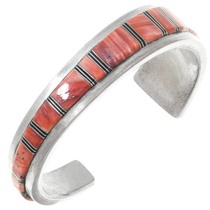 Sterling Silver Inlaid Spiny Oyster Bracelet 41049