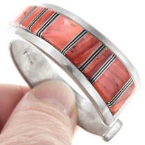 Navajo Spiny Oyster Inlay Cuff Bracelet 41049