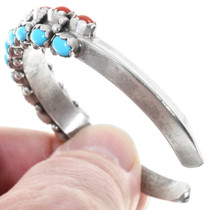 Native American Coral Sleeping Beauty Turquoise Bracelet 41058
