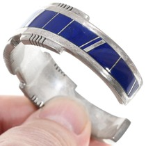 Navajo Lapis Inlay Ladies Cuff Bracelet 41061