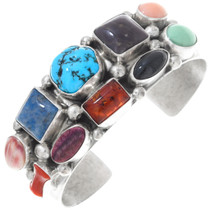 Vintage Multi Stone Turquoise Lapis Native American Jewelry Set 41062
