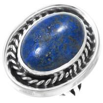 Native American Lapis Silver Ladies Ring 41064