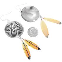 Silver Native American Man in the Maze Earrings 41071