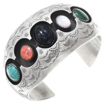 Vintage Turquoise Gemstone Shadowbox Bracelet 41074
