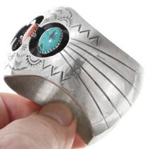 Old Pawn Sterling Silver Navajo Bracelet 41074