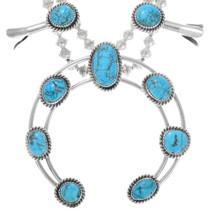 Turquoise Sterling Silver Navajo Necklace 28948