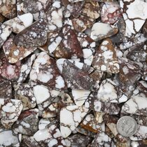 Rounded Triangle White Buffalo Cabochons 37269