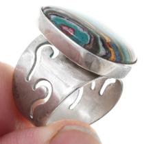 Southwest Colorful Gemstone Silver Ring 41085