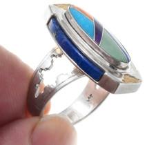 Native American Style Gemstone Inlay Ring 41091