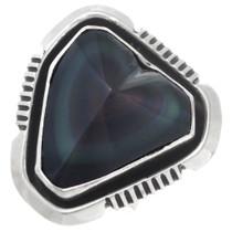 Sterling Silver Agate Hidden Heart Ring 41092