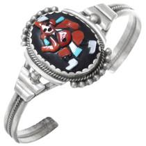 Mudhead Kachina Gemstone Inlay Bracelet 41072